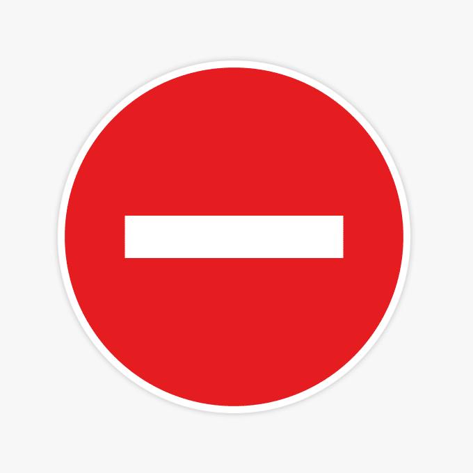 Geen-doorgang-verbodsstickers-sticker-raam-verboden-rood-wit