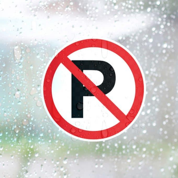 niet parkeren raamsticker