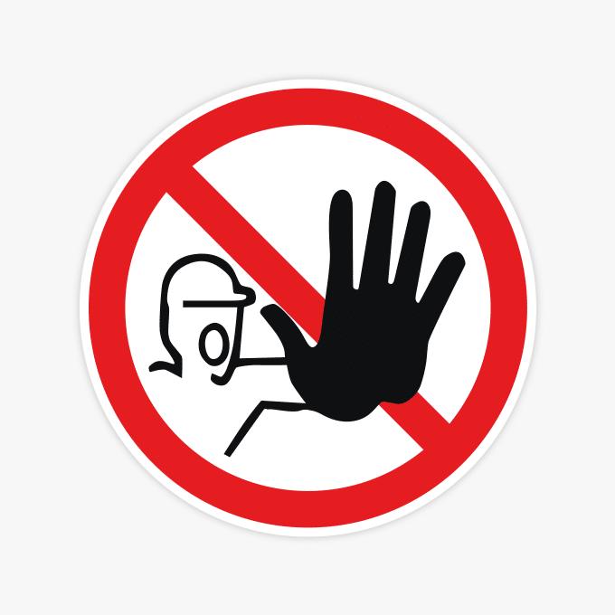 verboden-voor-onbevoegden1-sticker-verbodssticker-rood-klein-groot-geen-doorgang-prive-