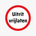sticker-uitrit-vrijlaten-niet-parkeren-verbodssticker