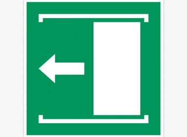 Sticker-deur-schuift-naar-links-ISO-7010-E034-nooduitgang-veiligheidsstickers