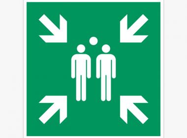 verzamelplaats-sticker-evacuatie-nooduitgang-E007-iso7010