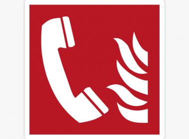 Sticker-brandtelefoon-ISO-7010—F006-brandveiligheids-stickers