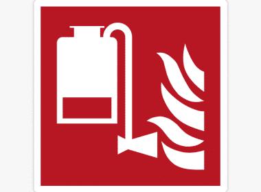 Sticker-draagbare-schuimblusser-ISO-7010—F010-brandveiligheid-stickers