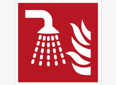 Sticker-sprinkler-ISO-7010—F011