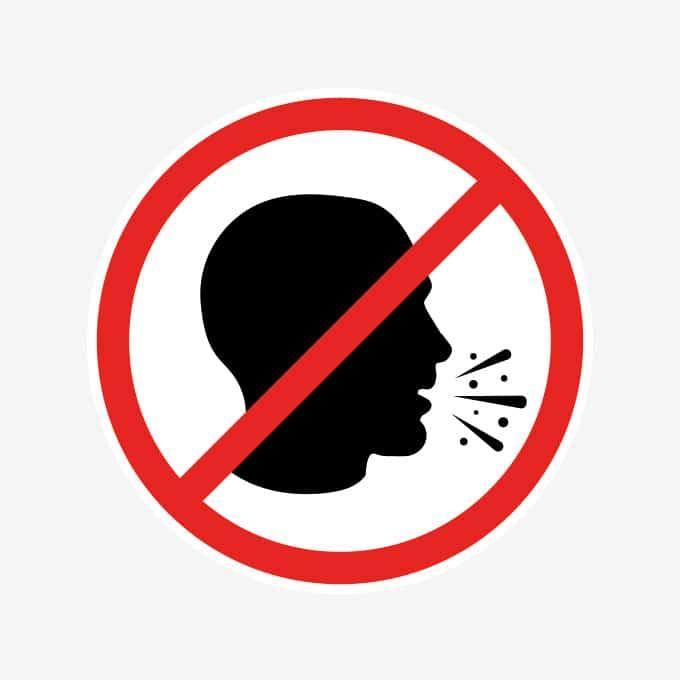 verboden-niezen-sticker