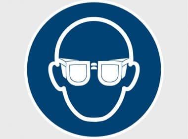 M004 veiligheidssticker gebodssticker handen oogbescherming verplichtArtboard 1-80