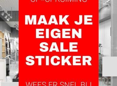 Sale Sticker Rechthoek