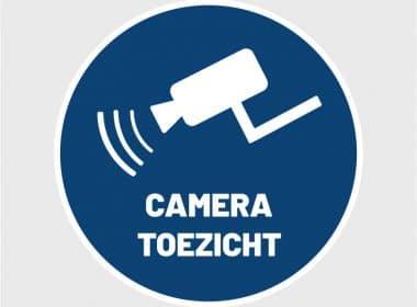 camerabewaking sticker toezicht camera kamera gebodssticker waarschuwing