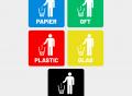 afval 1stickers recycle stickers prullenbak container papier gft plastic glas rest Artboard 1-8