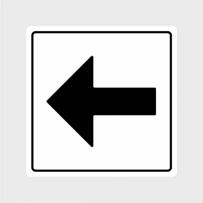 pijl sticker pictogram links zwartArtboard 1-80