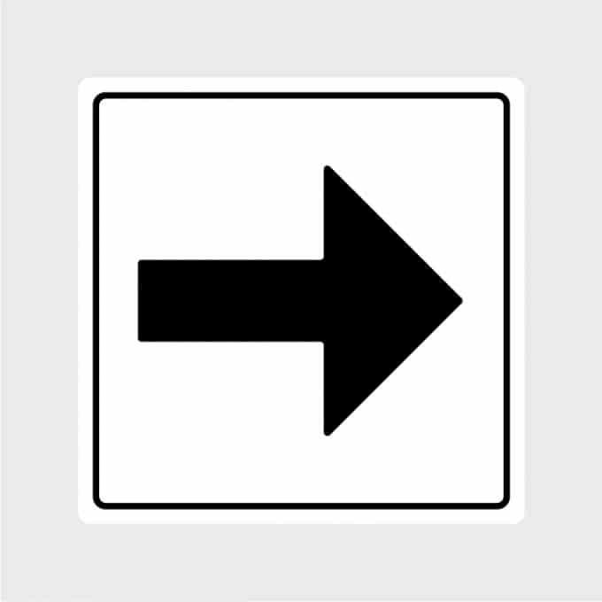 pijl sticker pictogram rechts zwartArtboard 1-80
