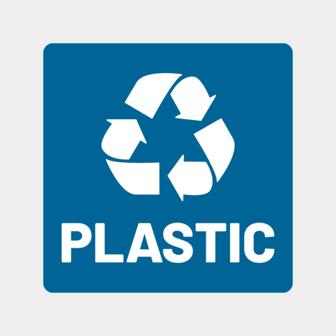 plastic recycle sticker afval stickers container blauw wit tekstArtboard 1-8