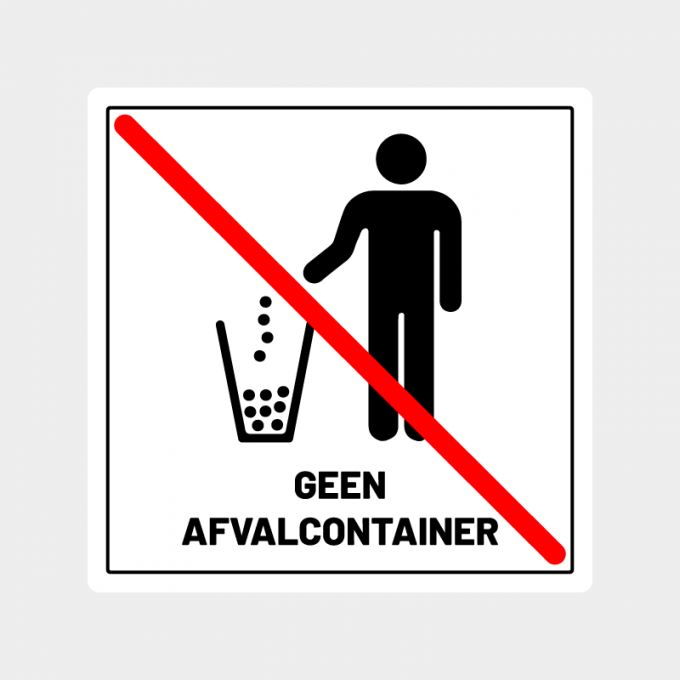 sticker geen afval containerArtboard 1-8
